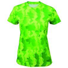 Hexoflage Maglietta A Maniche Corte Donna (s) (verde)