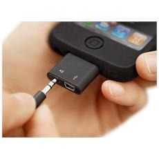 PocketDock Line Out Mini USB, 30 pin, miniUSB / 3.5 mm, Maschio / maschio, Nero