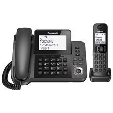 KX-TGF320EXM 2in1 telefono fisso con ampio display e segreteria telefonica digitale + cordless con vivavoce