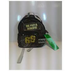 Zaino De Puta Madre - 1 Scompartimento + 1 Tasca Frontale Con Chiusura A Velcro - Marrone / grigio