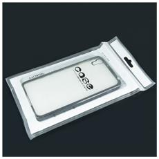 Cover Glossy Electro In Silicone Con Bordino Black / Nero Per Huawei P10 Lite