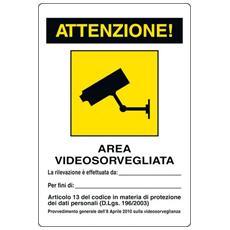 Cartelli segnaletici avvertimento - attenzione Pubblicentro - allluminio- 30x20 cm -04104300ALB0300X0200