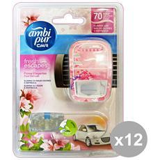 Set 12 Auto Base Fiori Delicati Deodorante Accessori Auto E Moto