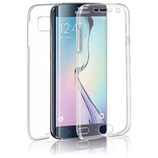 Specter Cover Fronte / Retro in TPU con Funzione 3D Touch per Galaxy S6 Edge Colore Trasparente