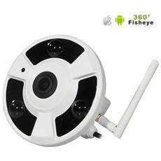 Smart Telecamera Digitale Ip Wifi P2p Fish Eye 360°