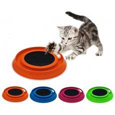 10596 Gioco Interattivo Con Tira Graffi Per Gatti Happy Cat Made In Italy øëœ35cm - Fucsia