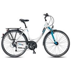 City Bike Trekking Ktm Life Tour Donna 24v Deore Bianco Opaco