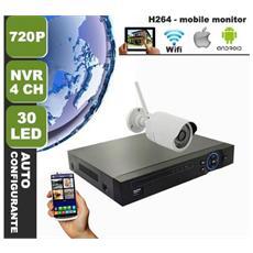 Kit Videosorveglianza Ip Telecamere Wireless Wifi 720p