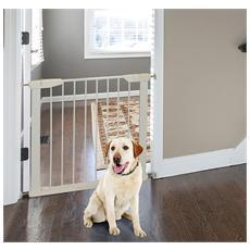 Cancelletto Di Sicurezza Per Animali Domestici E Bambini In Ferro Bianco 65-72x74cm