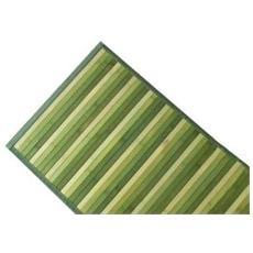 Tappeto In Bamboo Verde 50x140