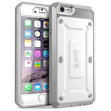 Cover Iphone 6 Plus, Supcase Cover Apple Con Clip Da Cintura 5.5 Pollici Cover Protezione Integrale Con Protezione Salvaschermo Integrato (bianco / grigio)