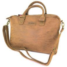 asciugamano laptop '' camel vintage - 42x32x6 cm - [ p2138]