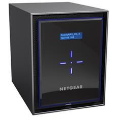 ReadyNAS RN426 4 GB RAM / 4 x Gigabit Ethernet / 1 x USB 3.0 / Capacità totale 12 TB Colore Nero