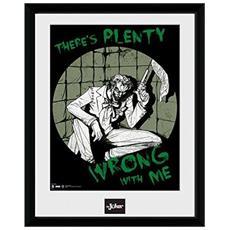 Comic - Joker Plenty Wrong (stampa In Cornice 30x40 Cm)