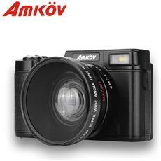 Amkov Cd-r2 Videocamera Digitale Camcorder Con Schermo Da 3 Pollici Tft Con Filtro Uv 0.45 X Super Grandangolo