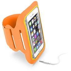 """Fascia da braccio in MicroFibra per smartphone da 5.2"""" - Arancione"""