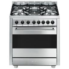 Cucina a Gas con Forno Elettrico B7GMXI9 5 Fuochi Classe A Colore Inox