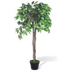 Albero Ficus Artificiale Con Vaso 110 Cm