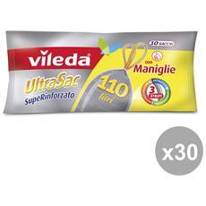 Set 30 80x105 Con Maniglie Superrinf. x 10 Pezzi Vileda Riordino