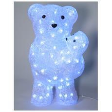 Orso Con Cucciolo In Braccio Illuminato Con 80 Led - 988623