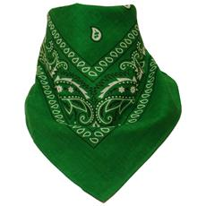Sciarpa motivo Paisley 100% cotone Verde