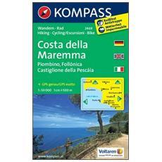 Carta escursionsitica n. 2469. Costa della Maremma. Adatto a GPS. DVD-ROM. Digital map
