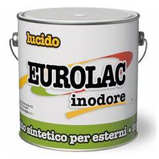 Smalto Sintetico Lucido Inodore Eurolac Laiv colore Marrone 0,375 Lt.