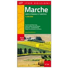 Marche. Carta stradale e turistica 1.250.000