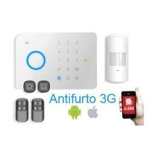 Kit Centrale Antifurto 3g Con Sensore Pir Schede Rfid E Telecomandi