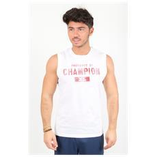 T-shirt Tee Ss Scritta Bianco Xl