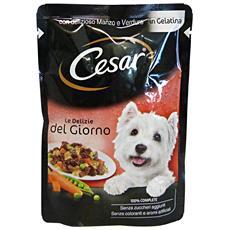Le Delizie Buste 100 Gr. Manzo / verdure - Cibo Per Cani