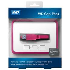 Custodia per Hard Disk Esterno Portatile USB 3.0 1 TB Nero e Rosa