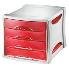 pz. 1 Cassettiera Intego Int. rosso 28.6x24.5x38cm 4c 28455