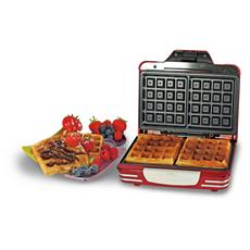Waffle Maker Party Time Macchina per Waffle Colore Rosso