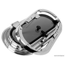 Oblò Bomar inox ovale 438 x 210 mm
