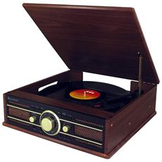 Giradischi PL550BR 33/45/78 Giri Radio FM Ingresso USB colore Marrone