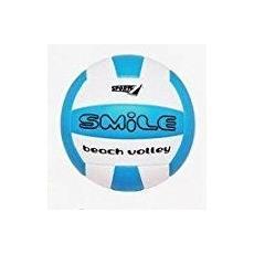 Pallone Azzurro E Bianco Da Beach Volley Pallavolo Spiaggia Mare Gonfiabile Smile