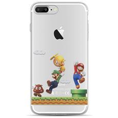 Cover Trasparente Con Super Mario Bros Per Iphone7 Con Pellicola Proteggi Schermo Omaggio