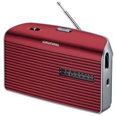 Radio Portatile Music 60 Sintonizzatore AM / FM colore Rosso