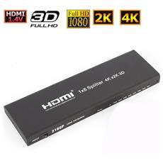 4k X 2k Hdmi V1.4 Full Hd Tv 3d 8-way 1x8 Splitter Digital Distribution Splitter