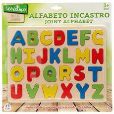 Alfabeto ad incastro in legno