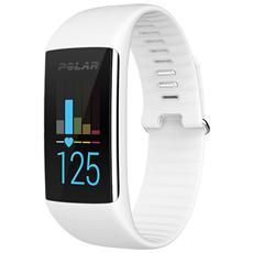 A360 Fitness Tracker Misura S Cardiofrequenzimetro, Contapassi, Calorie e Sonno + Notifiche con vibrazione - Bianco
