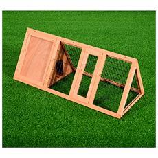Gabbia Per Conigli In Legno Di Abete, 118x50x45cm