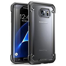 Cover Samsung Galaxy S7 Edge 2016, Supcase Unicorn Beetle Serie Premium Ibrida Protettiva Trasparente Custodia (frost / nero)