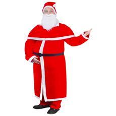 Set Natale Costume Lungo Di Babbo