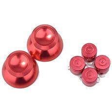Bottoni Bullet In Metallo Con Puntini Rossi Per Controller Ps4