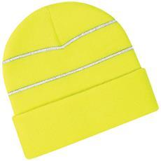 Berretto In Maglia Ad Alta Visibilità Uomo (taglia Unica) (giallo Fluorescente)