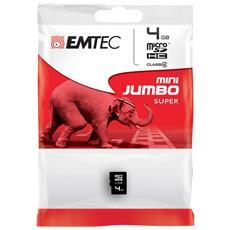 4GB microSD, 4 GB, Micro Secure Digital (MicroSD) , 15 MB / s, Nero, 1,1 cm, 1,5 cm
