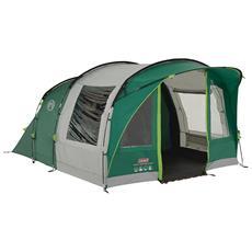 Rocky Mountain 5 Plus Tenda a Tunnel per 4 Persone Colore Verde / Grigio