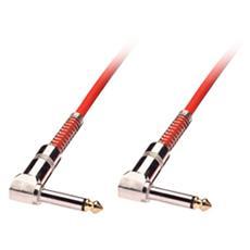 Cavo audio 6,3mm mono con connettori ad angolo, 10m rosso